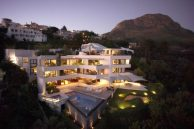 House Venter aerial view sunset